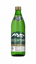 Минеральная вода «Ессентуки-17», 0.45 литра, газ, стекло, 20 шт. в уп.
